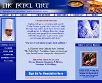 Webphotographix Homepage Design Layout - The Rebel Chef