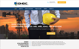 Webphotographix Homepage Design Layout -  DHDC Engineering Consulting Services Website