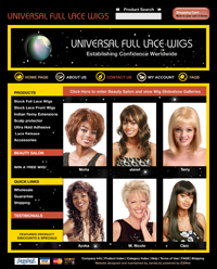 Webphotographix Homepage Design Layout - universal wigs