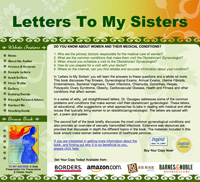 Webphotographix Homepage Design Layout -  Letters to my Sisters